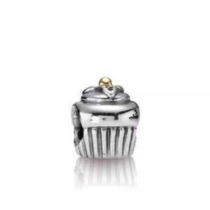 PANDORA Charm Cupcake Sterling Silver/14K Gold